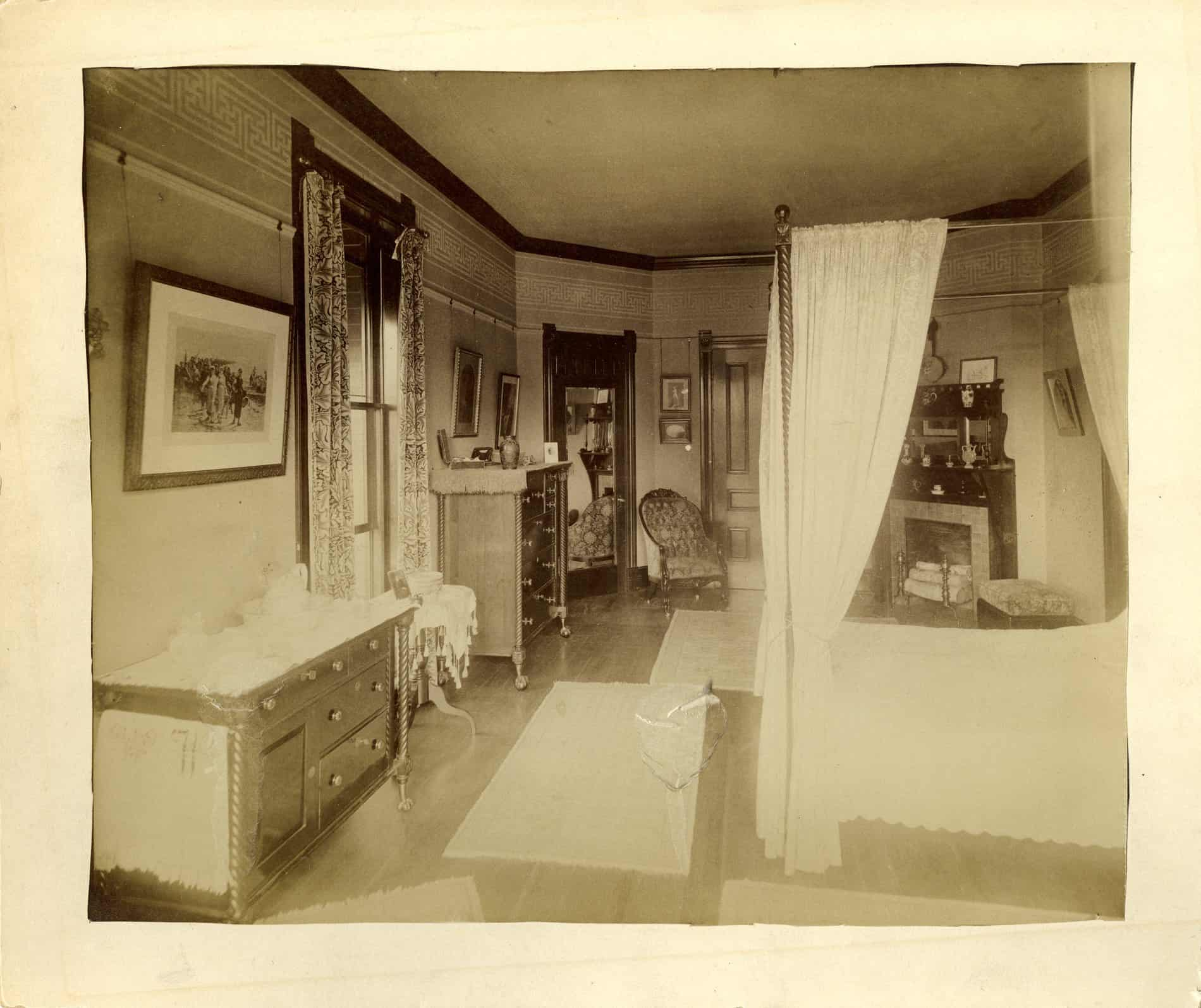 DC Alexander Suite bedroom in 1890